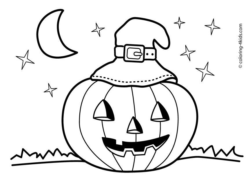 24 marvelous picture of halloween coloring pages free
