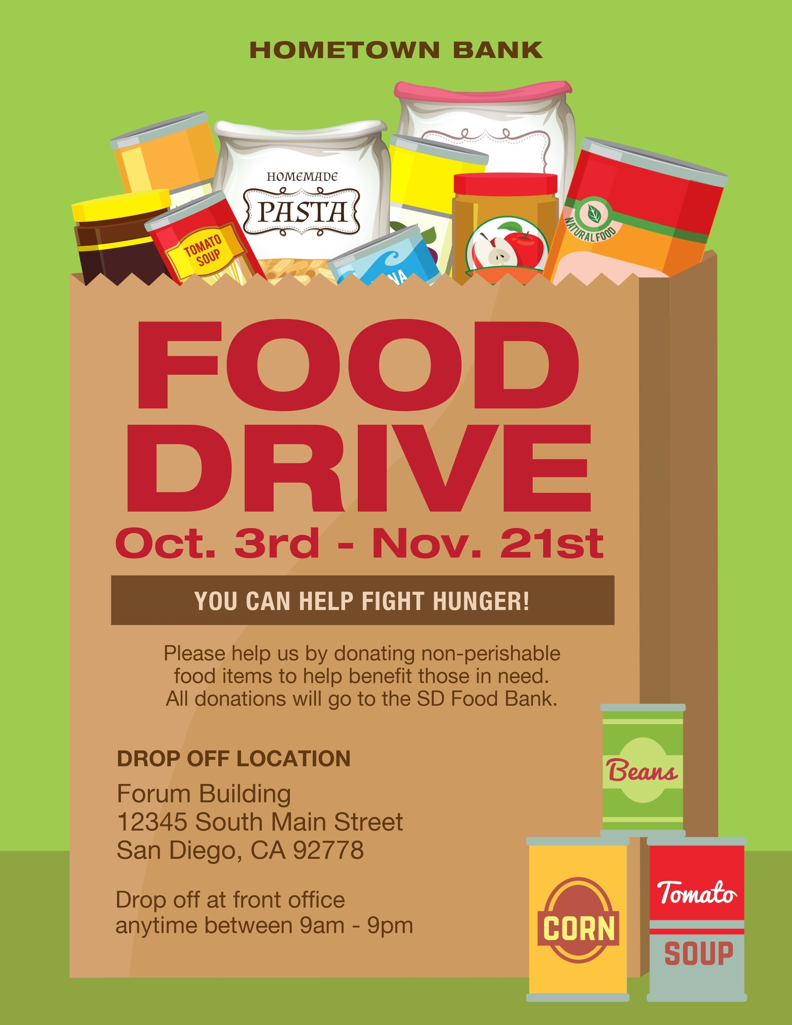 Food Drive Flyer Template | Canned Food Drive Flyer ...