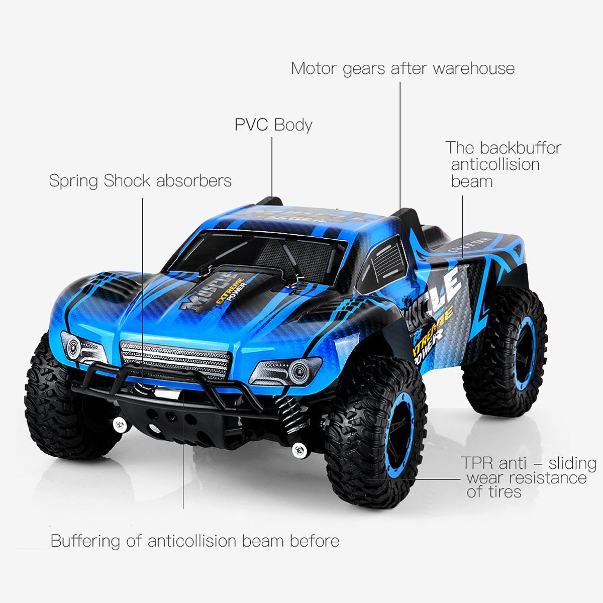 1/16 Remote Control Off-Road High-Speed Climbing Truck | RC