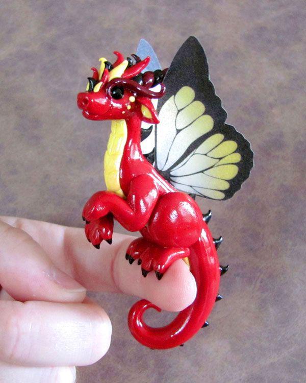 Red Clay Dragon: Red Butterfly Dragon By DragonsAndBeasties.deviantart.com