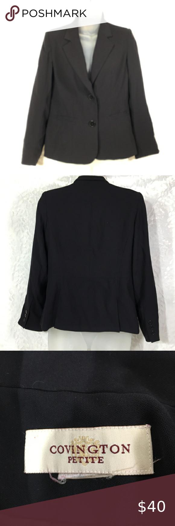 Covington Petite Medium Black Blazer Coat Jacket Black Blazer Coat Jacket Size Petite Medium See Pictu Black Blazer Coat Blazer Coat Blazer Jackets For Women [ 1740 x 580 Pixel ]