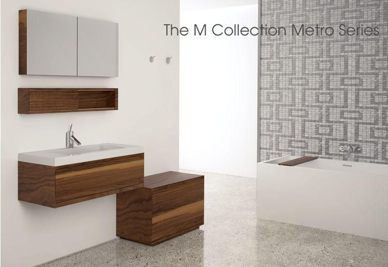 Collections Furniture M Collection Metro Wetstyle Contemporary Bathtubs Powder Room Vanity Wet Style