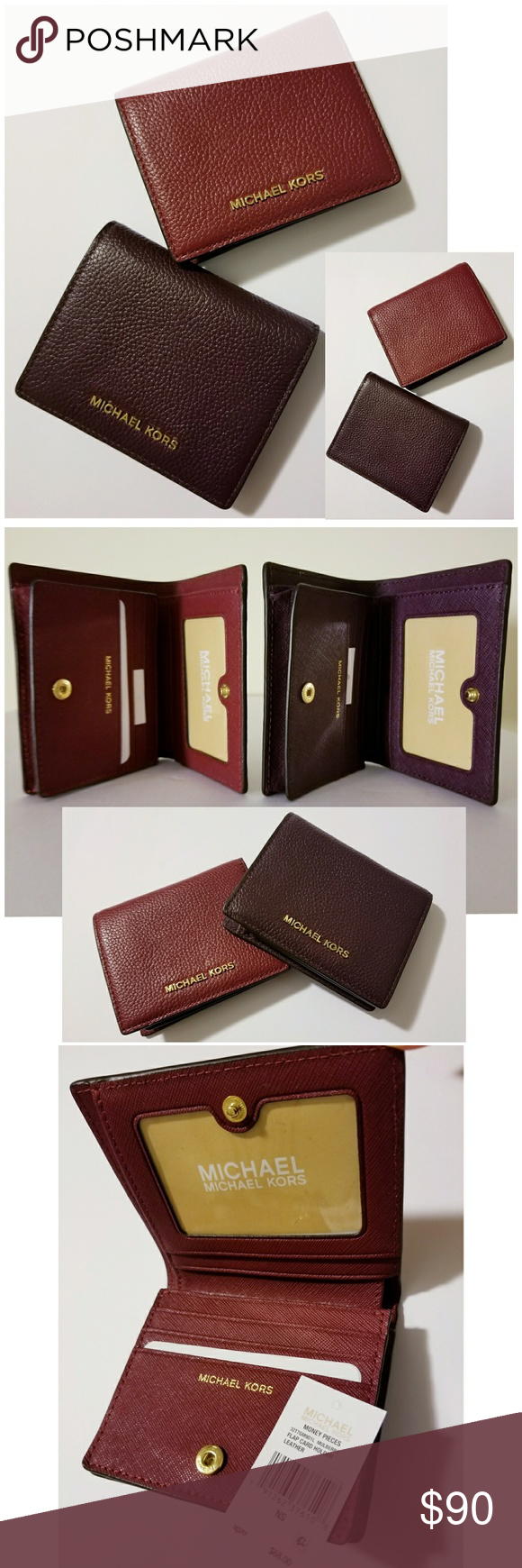 0620bbacdce862 Michael Kors Flap Card Case Wallet Bundle Michael Kors Money Pieces Flap  Cardholder Wallets • MULBERRY