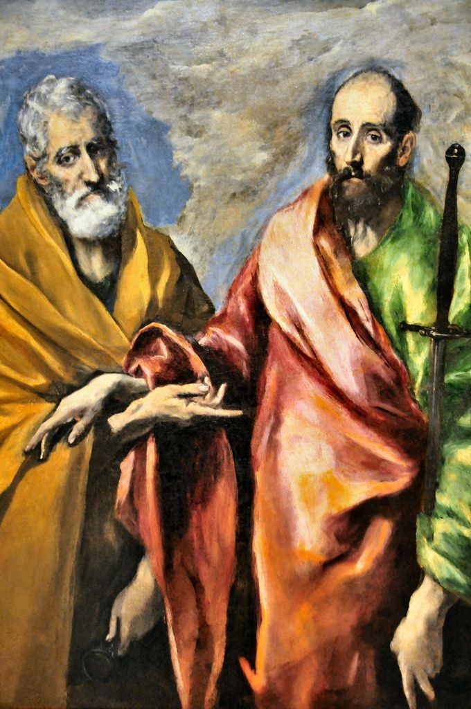 Doménikos Theotokópoulos (El Greco) painting of Saint Peter and Saint Paul at Museu Nacional d'Art de Catalunya