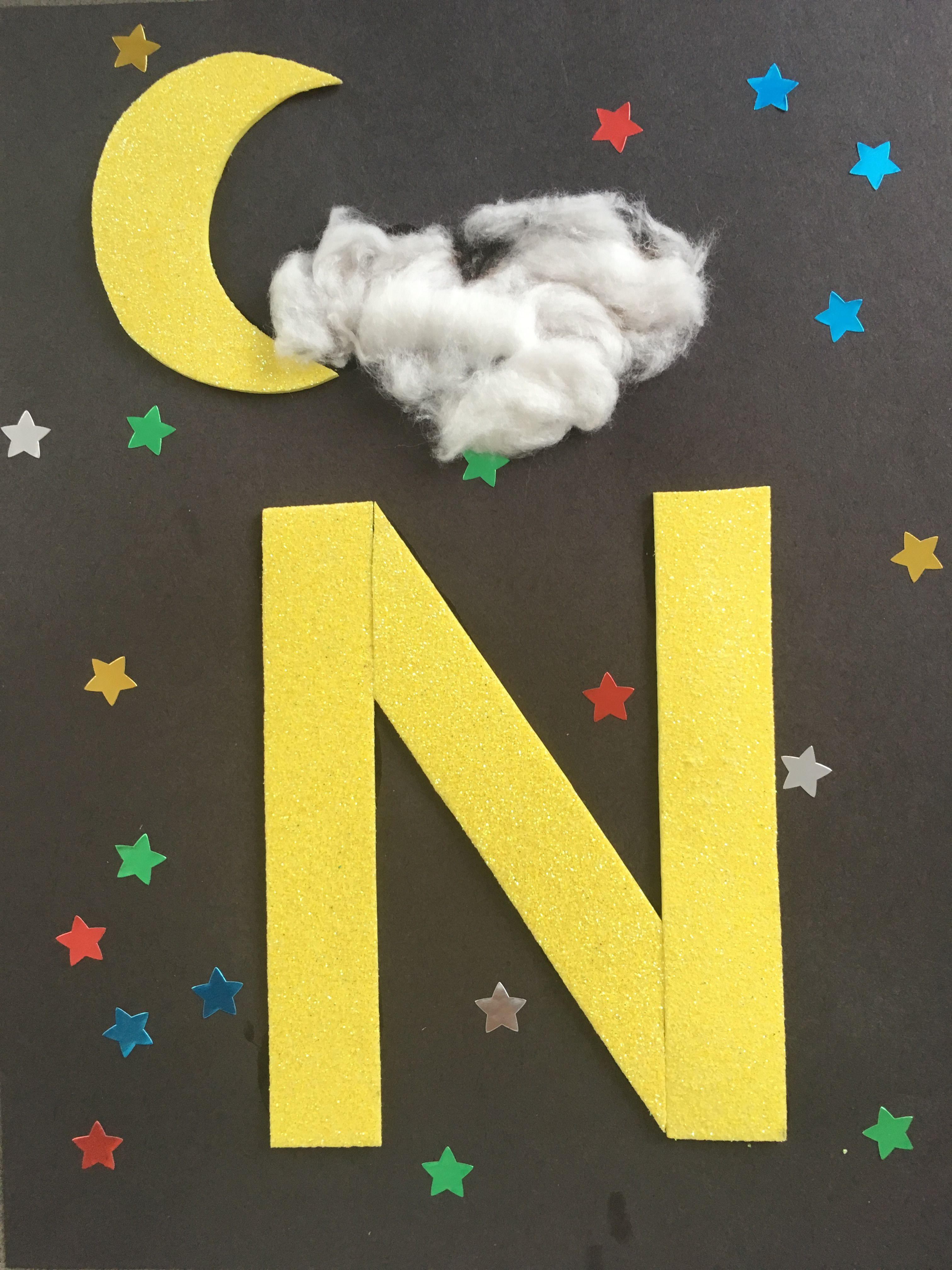 Letter craft for preschool N is for Night (With images