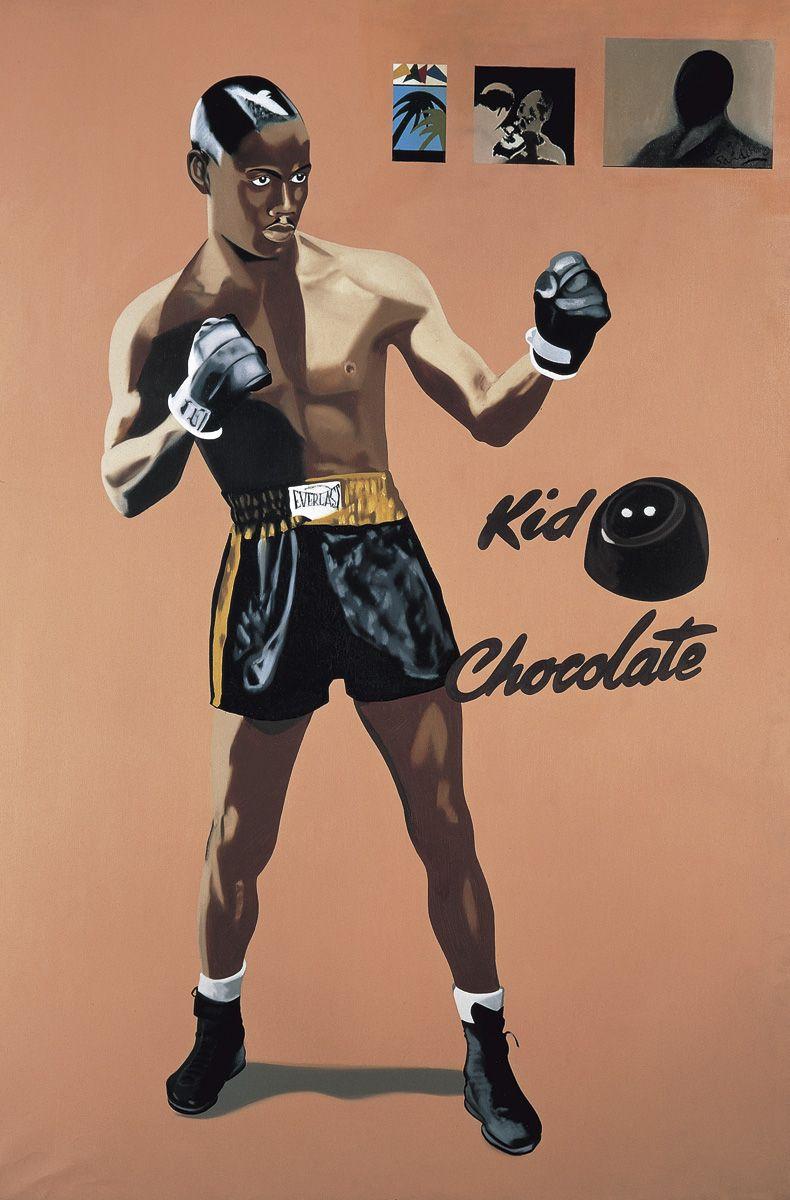 Eduardo Arroyo. 'La forza del destino:Kid Chocolate', 1972 ...
