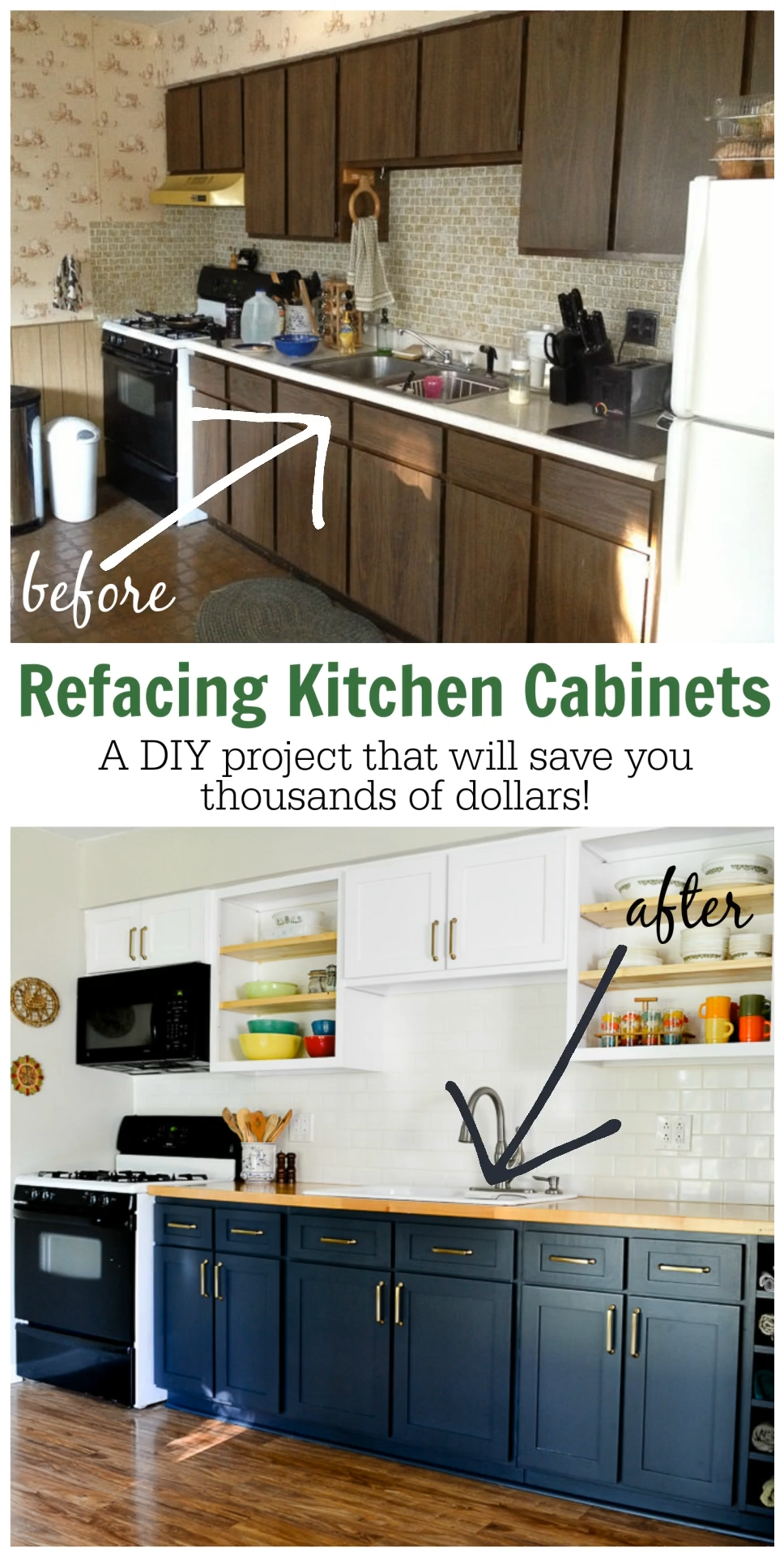 Why I Chose to Reface My Kitchen Cabinets Instead