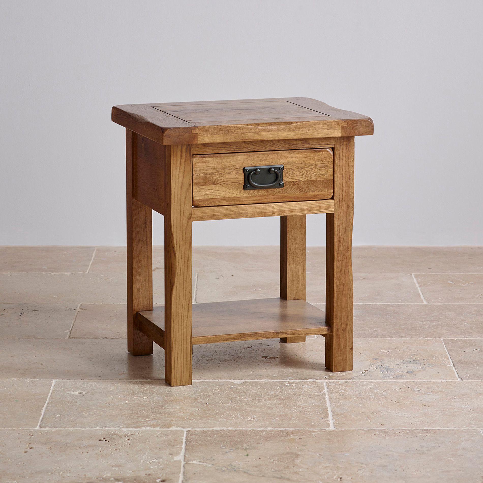 Original Rustic Solid Oak Lamp Table. Oak NightstandBedside TablesLiving  Room ... Part 53