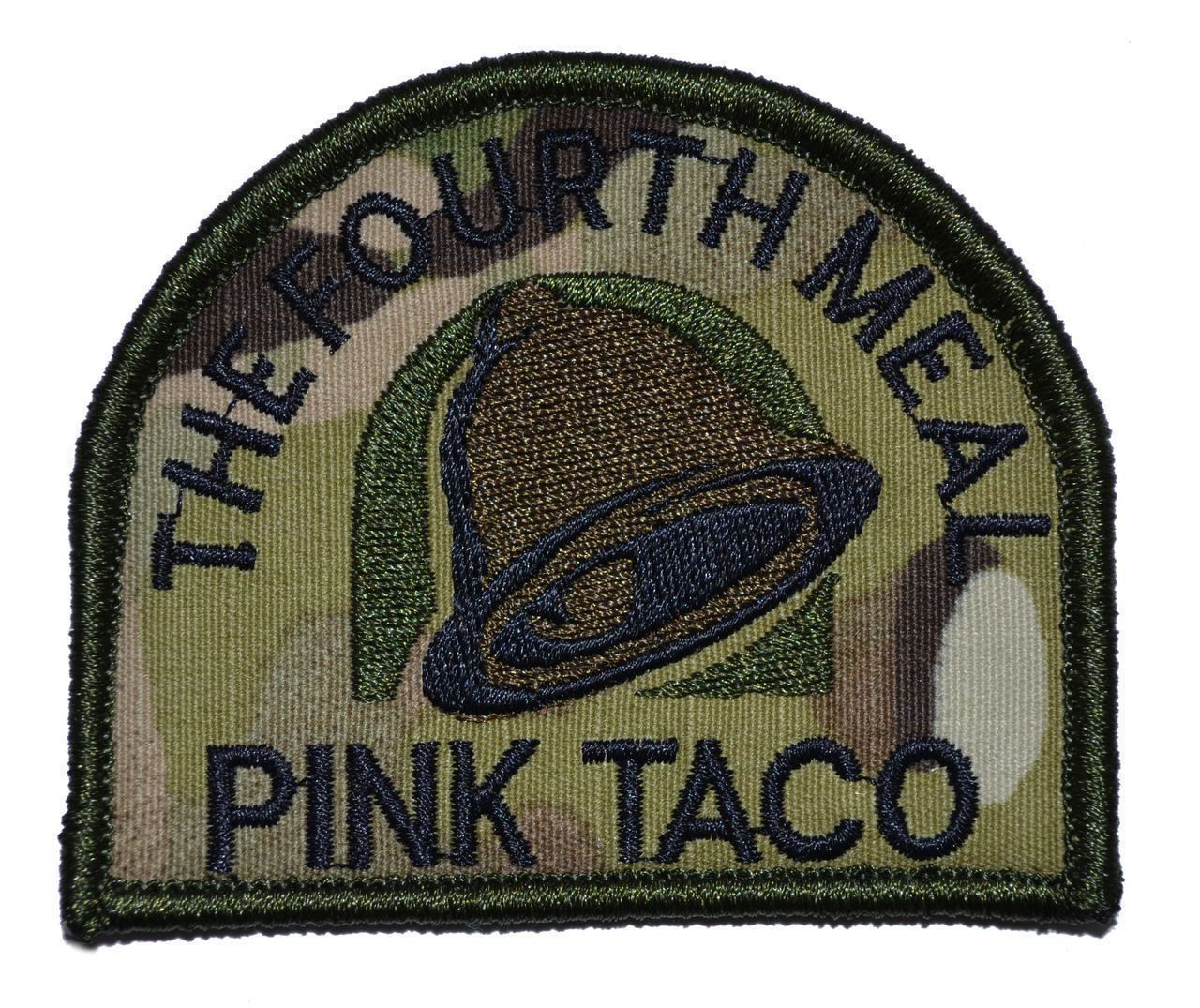 4.99 - Pink Taco   The Fourth Meal - Arc Military Morale Patch Hook  Backing  ebay  Fashion 490e58ccaba