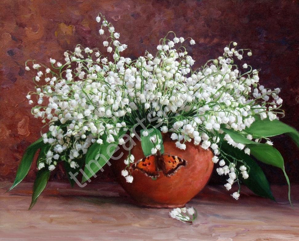 """художник Игорь Бузин """"Ландыши"""" 750руб, картина, раскраска ..."""