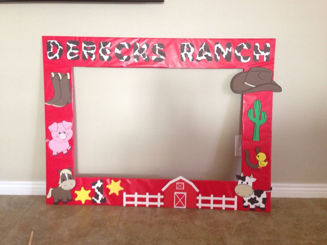 Large Picture Frame For Cowboy Party Birthday Ideas Cowboy