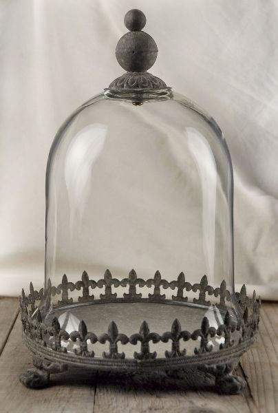 Large 11 Quot Glass Cloche With Metal Base 29 Each 4 For 25