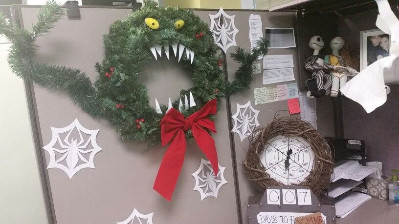My Christmas Cubicle Decorations 2015