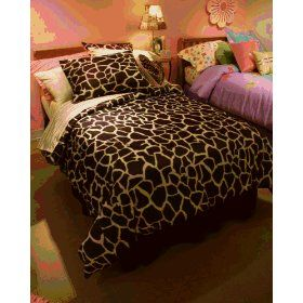 Giraffe Print Bedding Pair With Colorful Sheets Like Yellow Teal