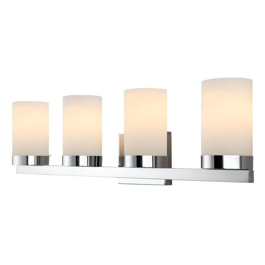 Chrome bathroom vanity light fixtures - Canarm 4 Light Milo Chrome Bathroom Vanity Light