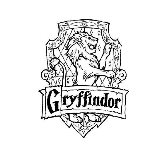 Gryffindor Crest Harry Potter Coloring Pages Harry Potter Drawings Harry Potter Quilt