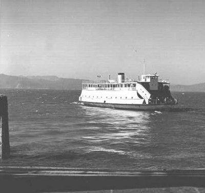 Ferry leaving Astoria, Oregon, for Megler, Washington