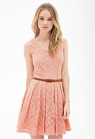 Belted Crochet Lace Dress Dresses Lace Pink Dress Lace Dress Forever 21