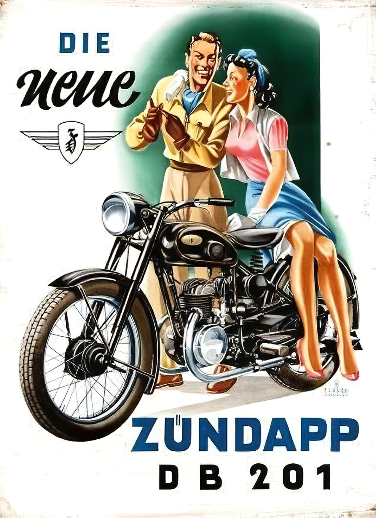 Zündapp DB 202 MOTORCYCLE POSTER POSTER PICTURE ART PRINT AFFICHE Decorative Plate DB202
