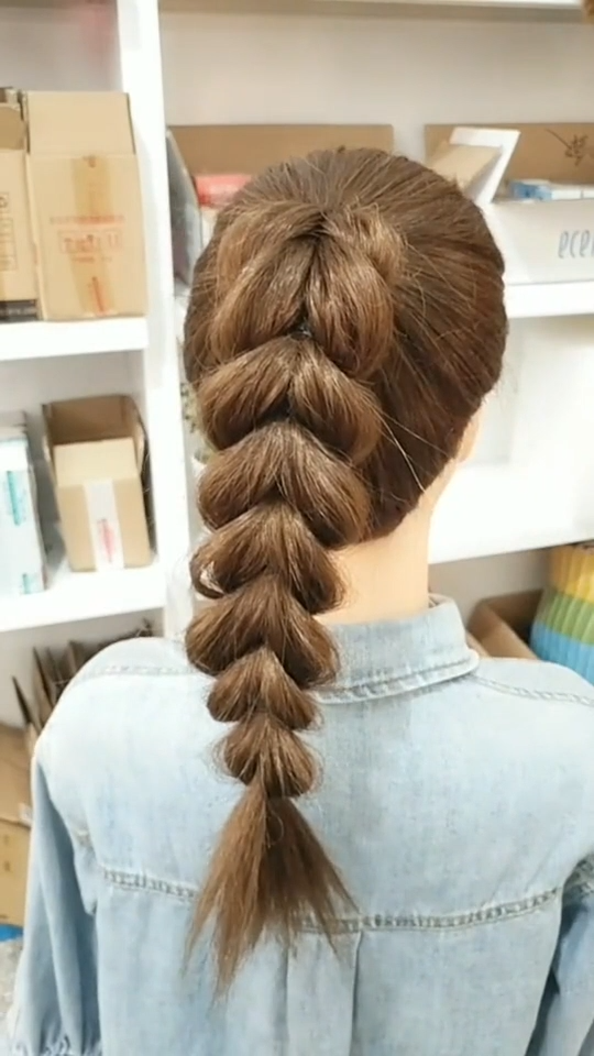 Beachy Blonde Synthetic Lace Front Wig braided hair tutorial women -  It's not that hard as it might look. If you don't know how to do a 5 strand braid I would recom - #beachy #blonde #braided #front #Hair #hairscolorideas #hairstylesformediumlengthhair #hairstylestutorials #Lace #synthetic #tutorial #wig #women