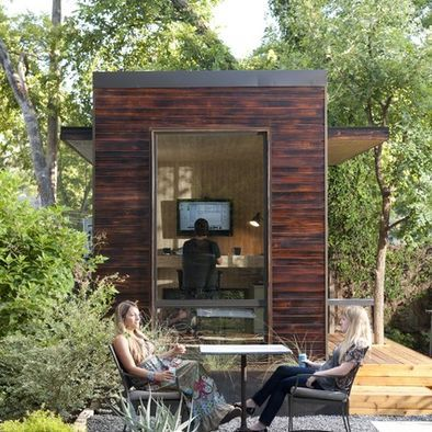 92 Square Foot Backyard Office   Modern   Garage And Shed   Austin   Sett  Studio Great Ideas