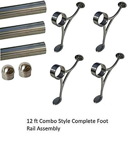Best 2 Od Brushed Stainless Steel Bar Combo Style Foot Rail 640 x 480
