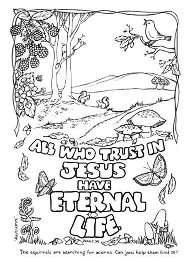 All Who Trust In Jesus Have Eternal Life Scripture Doodle Bible