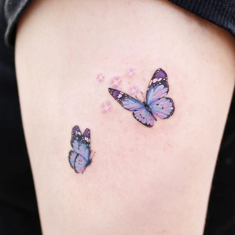 🦋 tattoo shared by ━━★ on We Heart It