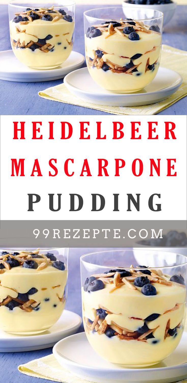 Photo of Heidelbeer-Mascarpone-Pudding – Gute Rezepte