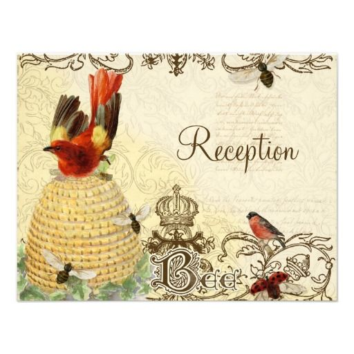 Discount DealsBee Happy Vintage - Reception Invitationyou will get best price offer lowest prices or diccount coupone