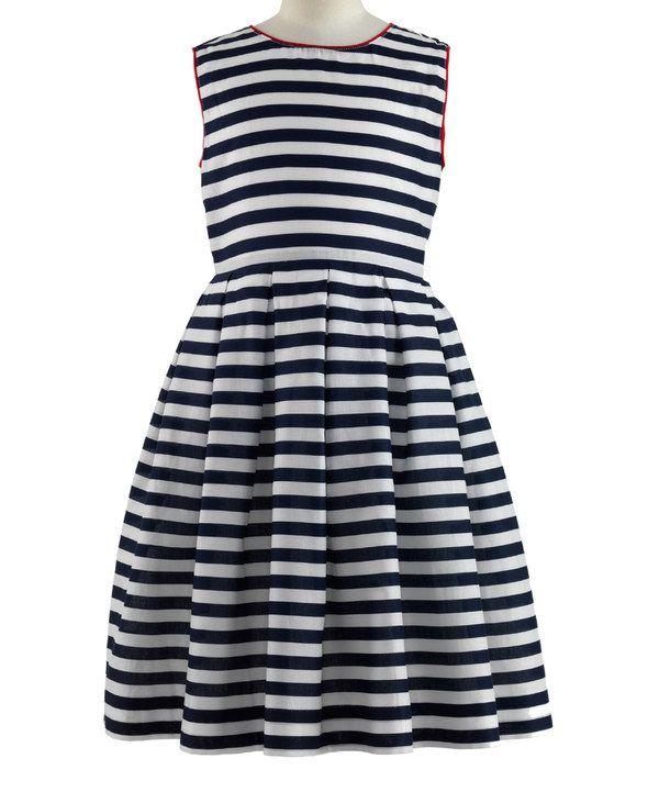 Look at this Navy Nautical Stripe Dress - Toddler