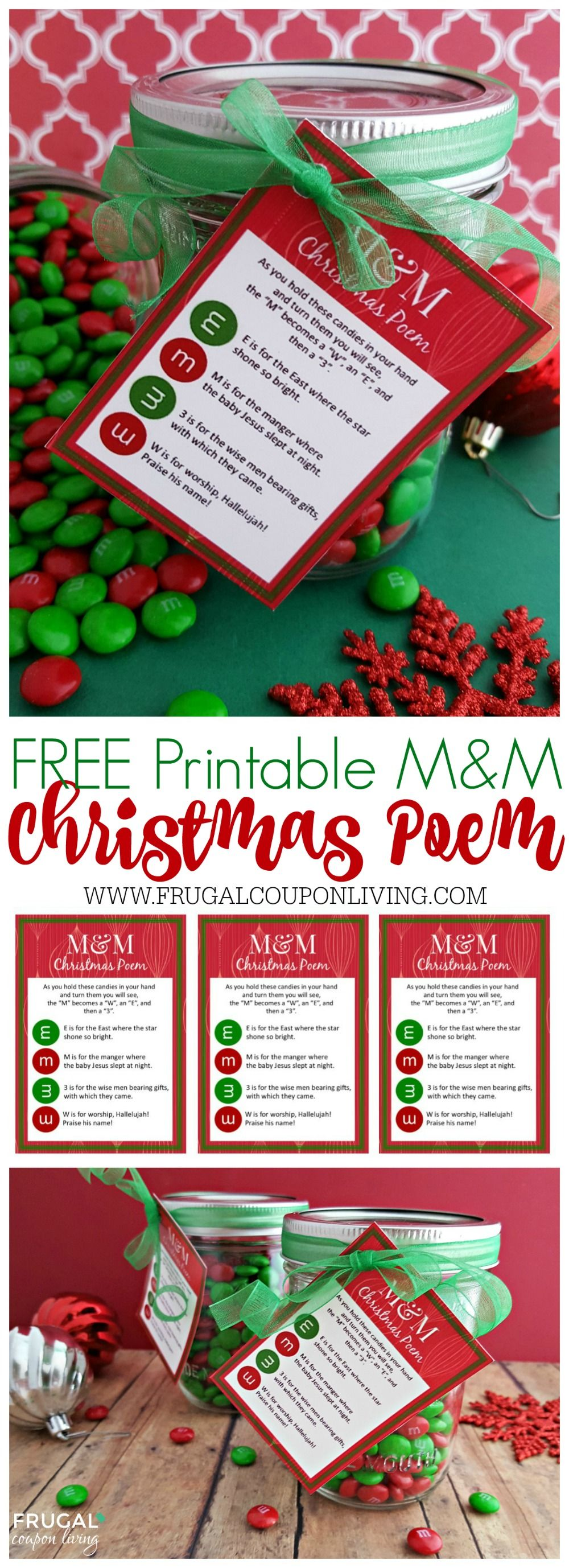 m m christmas poem and printable gift tag the star frugal coupon living s m m christmas poem and printable gift tag the perfect homemade christmas