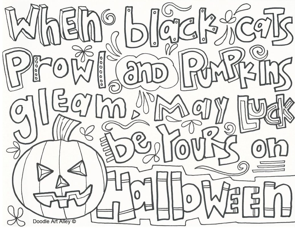 Free Halloween coloring pages from Doodle Art Alley Print