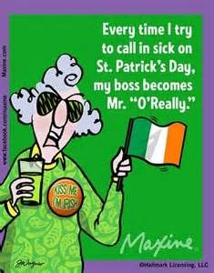 St. Patrick's Day quote from Maxine: