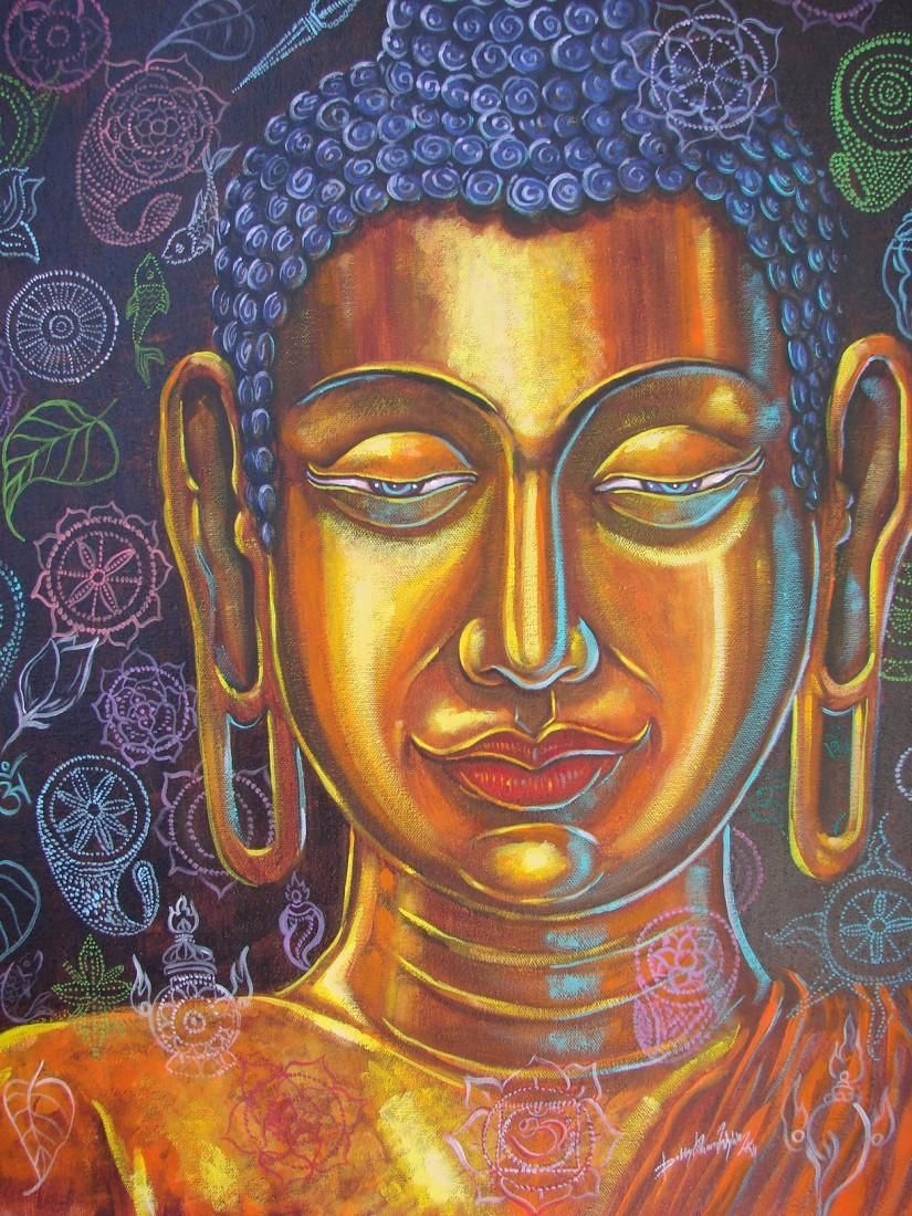 Divine Philosophy Painting By Bobby Wylde In Figurative Composition At Touchtalent 48497 Buddha Art Painting Art