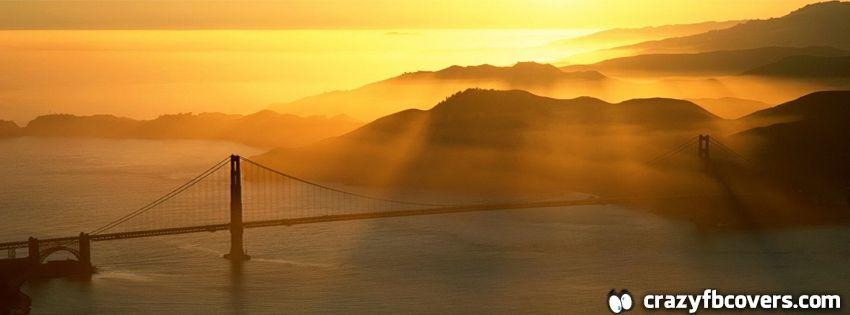 Golden Gate Sunset Facebook Cover - Facebook Timeline Cover Photo - Fb Cover