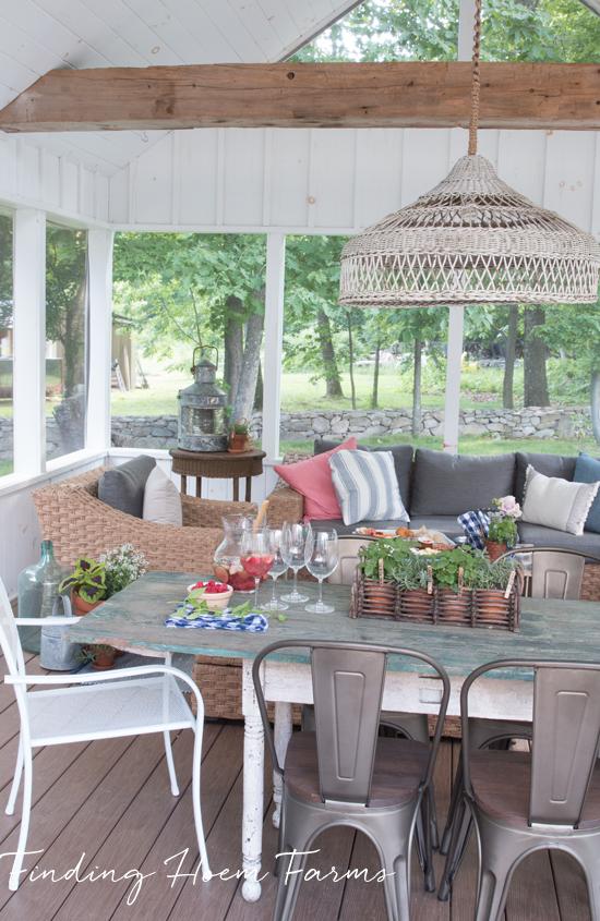 Our Farmhouse Screened Porch Home, Decor, Porch decorating