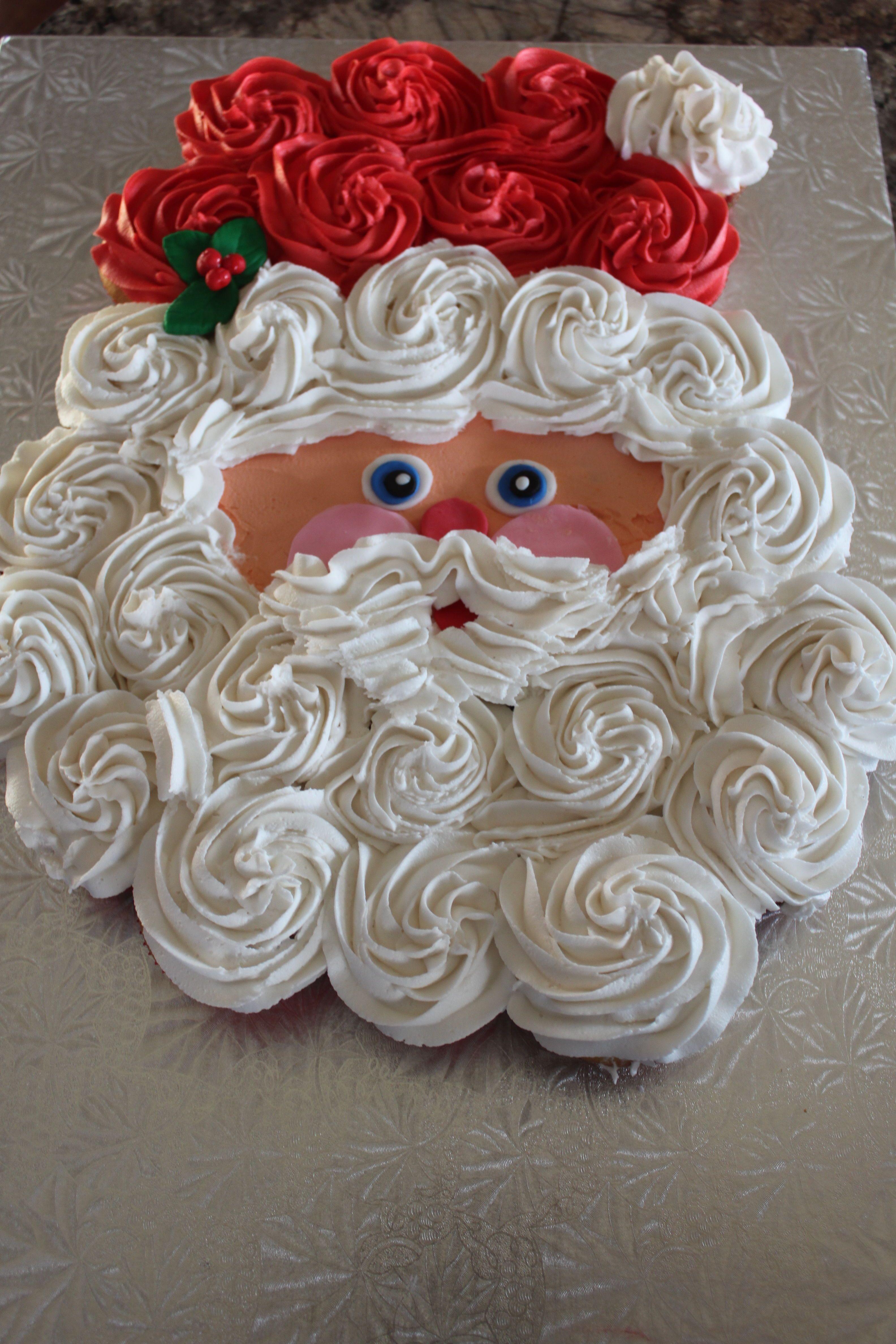 How to make a father christmas cake decoration - Default Santa Claus Cupcake Cake