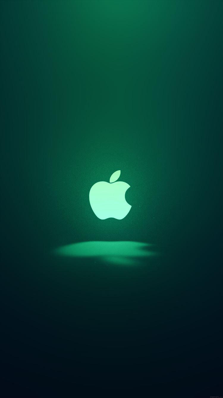 ダークグリーン Appleロゴ Iphone6壁紙 Iphone6 壁紙 Apple ロゴ モバイル用壁紙