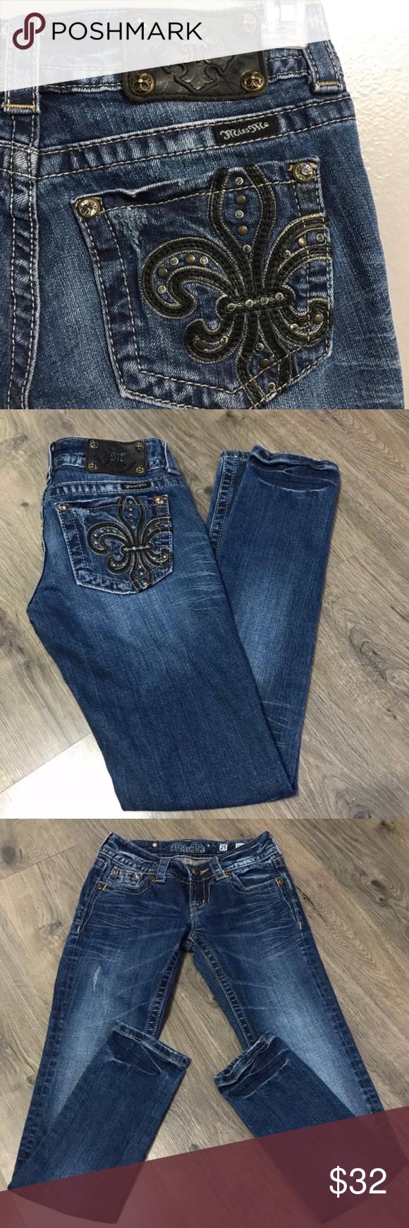 NWT Size 27 Miss Me Jeans Skinny Cut Leg JP5145S4