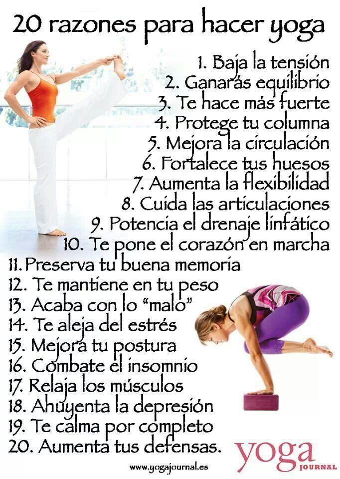 20 Razones Para Hacer Yoga Hacer Yoga Yoga Beneficios Yoga Relajacion