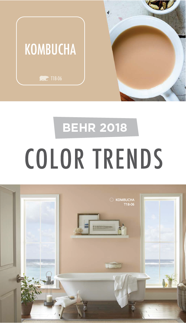 the warm tan hue of kombucha by behr paint will bring new on behr paint colors interior id=78005
