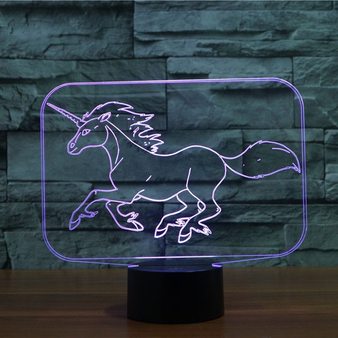 Unicorn 3d Illusion Lamp 3d Illusion Lamp 3d Led Lamp 3d Illusions