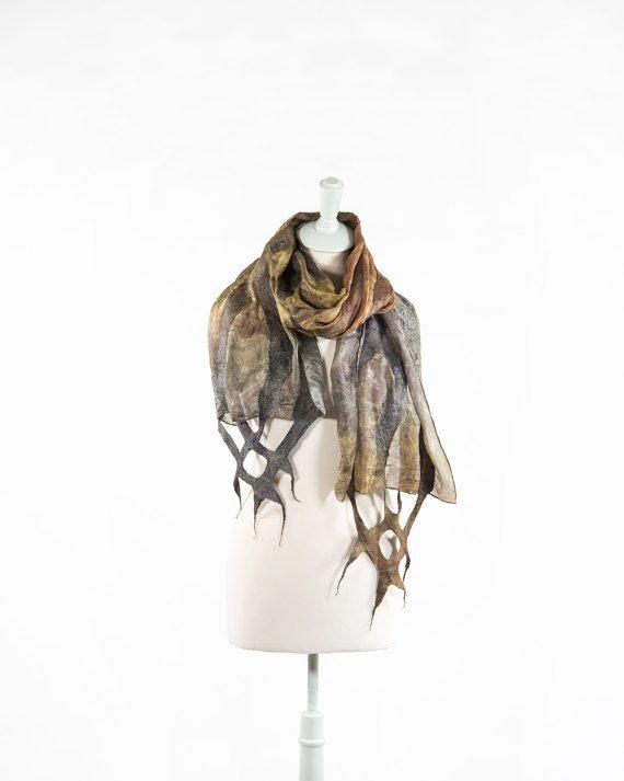 Bufanda Bufanda de seda Bufanda de lana Mano teñido