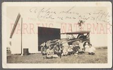 Vintage Photo Family & 1920s Car at Free Auto Camp Grounds Michigan 768112
