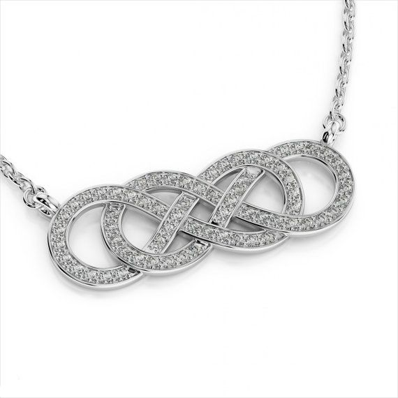 Double infinity diamond pendant necklace 14k white gold double infinity diamond pendant necklace 14k white gold valentines day gifts infinity diamond pendants mozeypictures