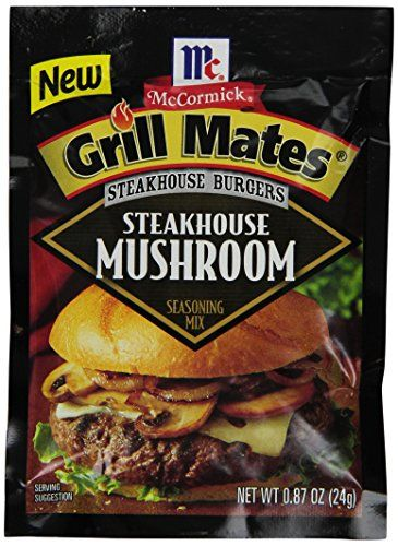 Mccormick Grill Mates Steakhouse Burgers Seasoning Mushroom 87 Ounce Pack Of 12 To View Further For Steakhouse Mushrooms Steakhouse Burger Seasoning Mixes