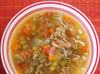 Sopa De Carne Molida Y Vegetales Ground Meat And Vegetable Soup