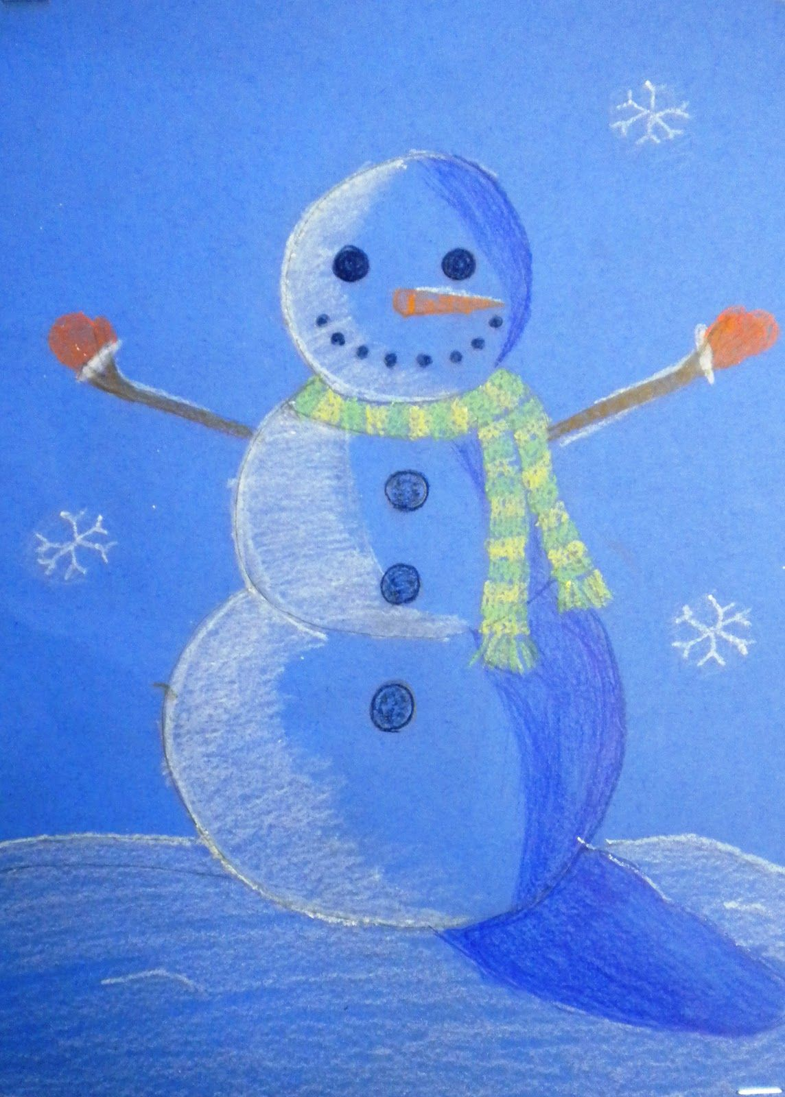 For The Love Of Art 6th Grade Finished Value Snowmen