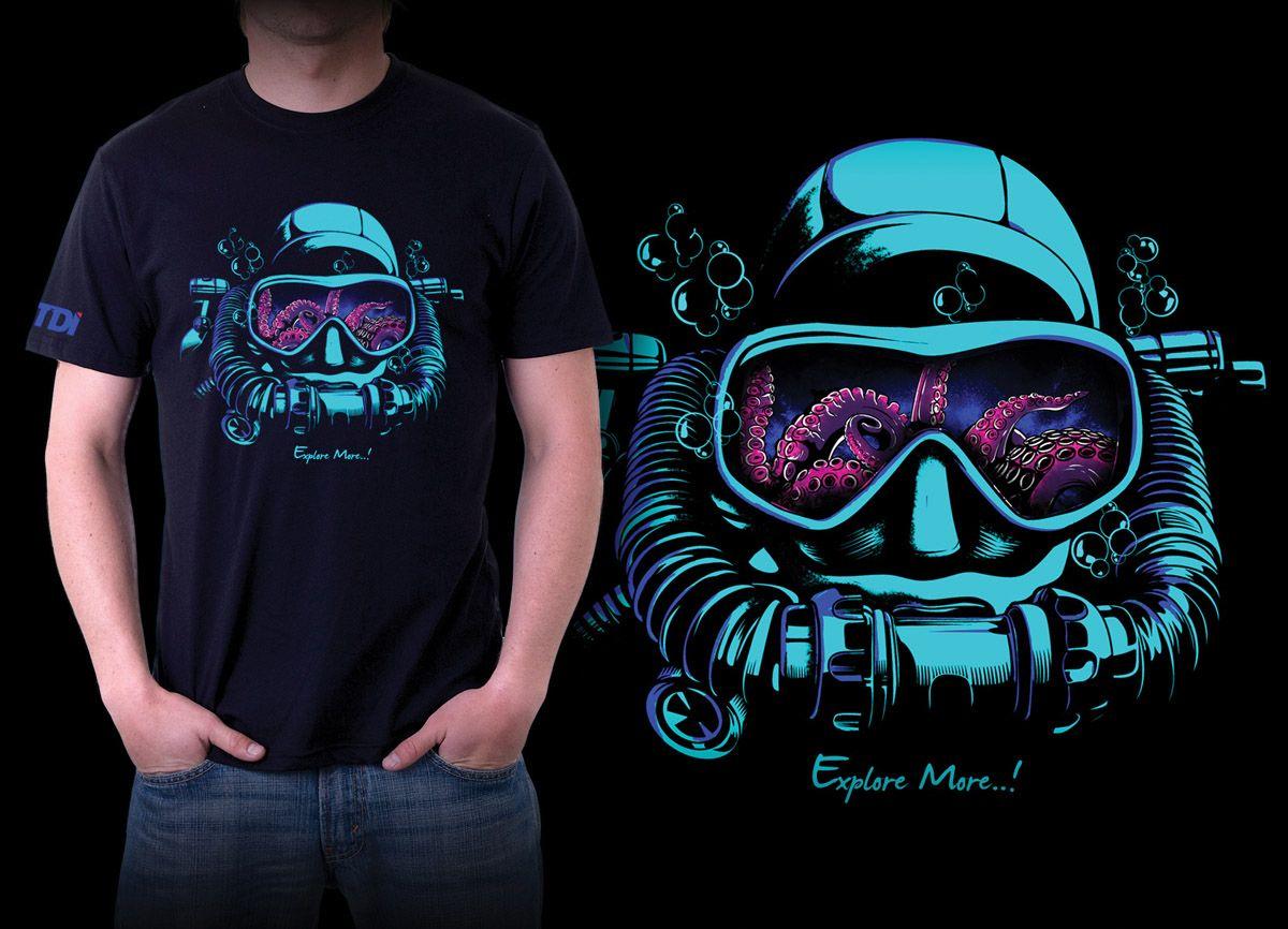 Shirt design octopus - T Shirt Design By Fathair Potd99 11 25 2013 Scuba Octopus